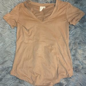 Tan suede White Crow loose fitting Tshirt